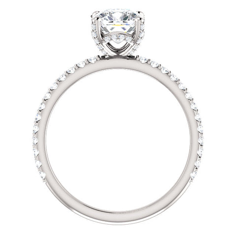 2.20 Ct. Under-Halo Cushion Cut Diamond Ring w Matching Band F VS1 GIA Certified