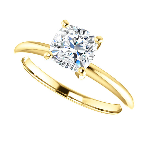 1.50 Ct. Cushion Cut Diamond Classic Solitaire Ring G Color VS2 GIA Certified