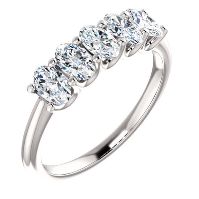 5 Stone Oval Diamond Ring