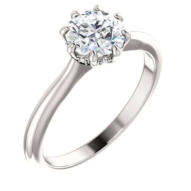 Round Cut 8 Prong Diamond Engagement Ring