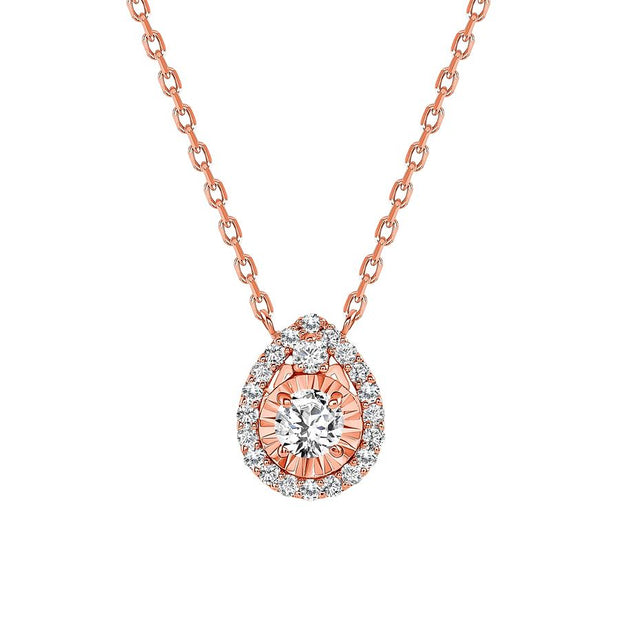 LEDODI Tear Drop Diamond Necklace
