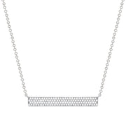 white gold thick diamond bar necklace