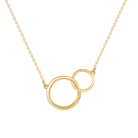 LEDODI Interlock Circle Pendant Necklace