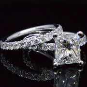 2.50 Ct. Princess Cut Diamond Engagement Set J Color VS1 GIA Certified
