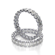 2.00 Ct. U-Setting Emerald Cut Diamond Eternity Ring F-G Color VS1 Clarity