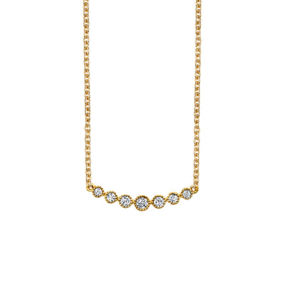 Seven Stone Diamond Bar Necklace