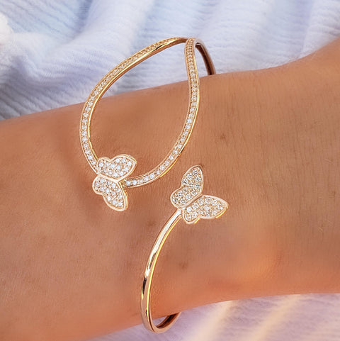 LEDODI Butterfly Twist Diamond Bangle