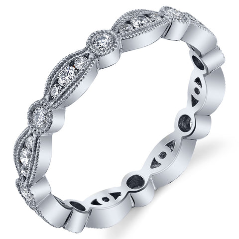 Stackable Carousel Diamond Eternity Ring