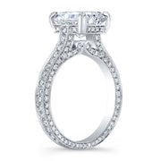 2.50 Ct. Rectangle Radiant Cut Diamond Engagement Ring G Color VS2 GIA Certified