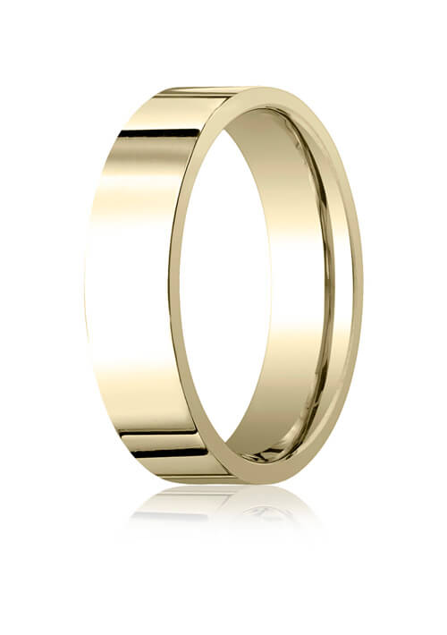 14k Yellow Gold 6.0mm Flat Comfort-Fit Ring - CF26014ky