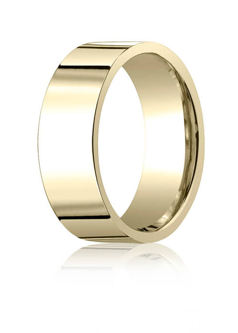 14k Yellow Gold 8.0mm Flat Comfort-Fit Ring - CF28014ky