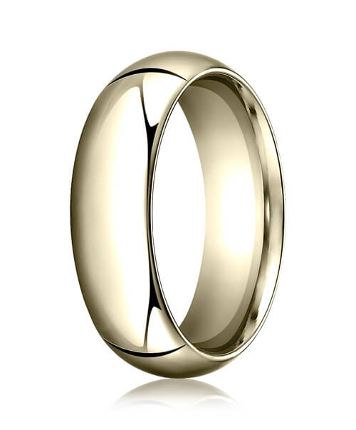 14k Yellow Gold 7.0mm High Dome Heavy Comfort-Fit Ring - CF17014ky