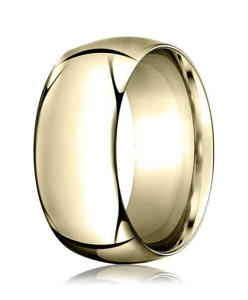 14k Yellow Gold 10.0mm High Dome Heavy Comfort-Fit Ring - CF110014ky