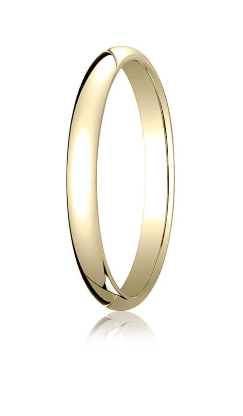 14k Yellow Gold 2.5mm Traditional Dome Oval Ring - 12514ky