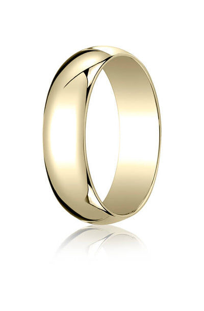 10k Yellow Gold 6.0mm Traditional Dome Oval Ring - 16010ky