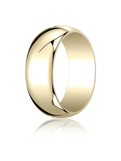 10k Yellow Gold 7.0mm Traditional Dome Oval Ring - 18010ky