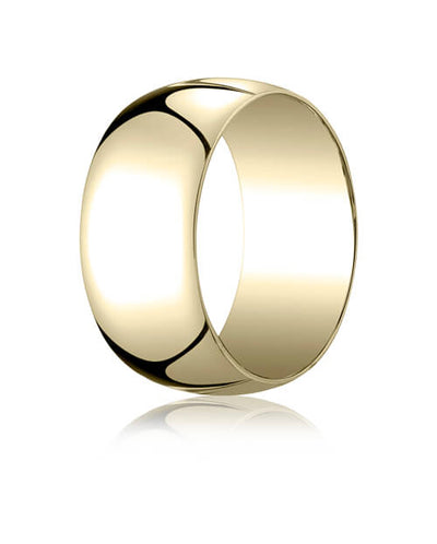 14k Yellow Gold 10.0mm Traditional Dome Oval Ring - 110014ky