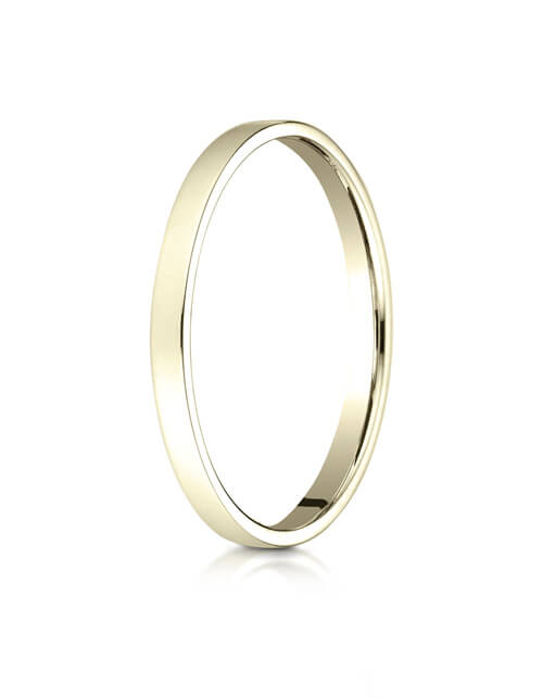 14K Yellow Gold 2.0mm Traditional Flat Ring - 22014ky