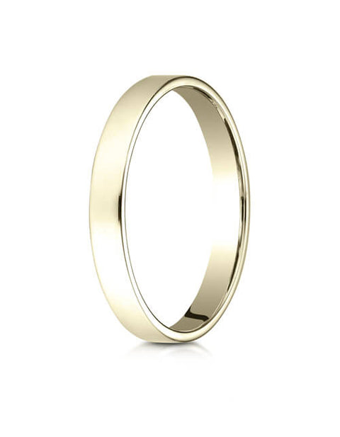 14K Yellow Gold 3.0mm Traditional Flat Ring - 23014ky