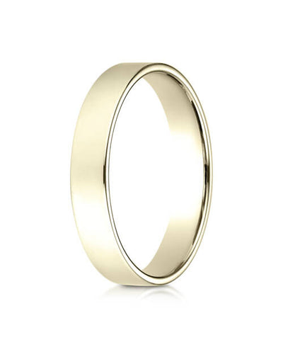 14K Yellow Gold 4.0mm Traditional Flat Ring - 24014ky
