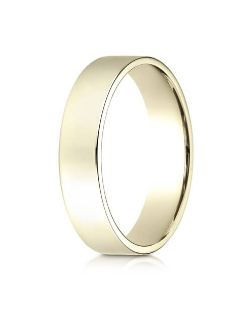 14K Yellow Gold 5.0mm Traditional Flat Ring - 25014ky