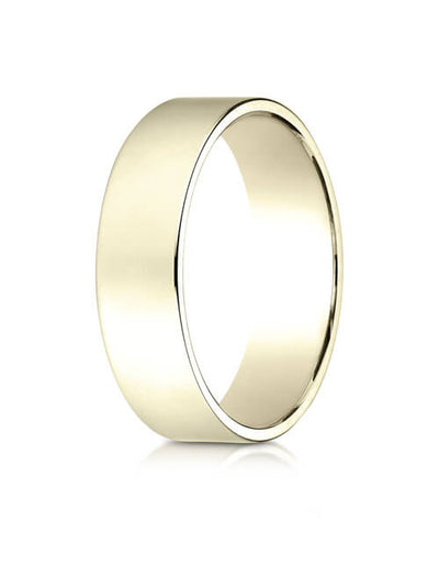 14K Yellow Gold 6.0mm Traditional Flat Ring - 26014ky