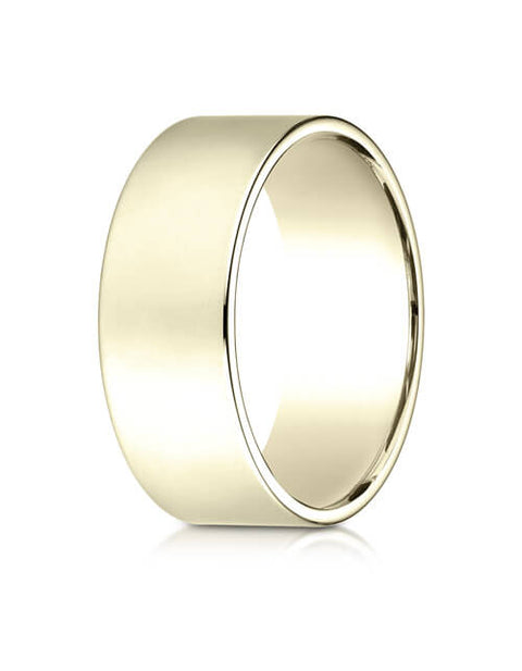 14K Yellow Gold 8.0mm Traditional Flat Ring - 28014ky