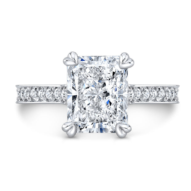 4.30 Ct. Bellagio Radiant Cut Diamond Engagement Ring H Color VS1 GIA Certified