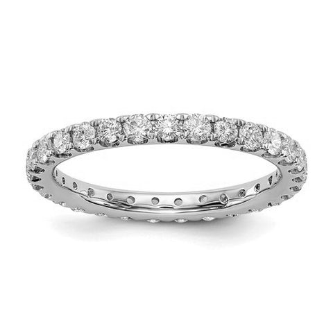 1.25 Ct. Round Brilliant Diamond Eternity Band Wedding Ring G Color SI1 Clarity