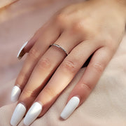 White Gold Jagged Edges Ring