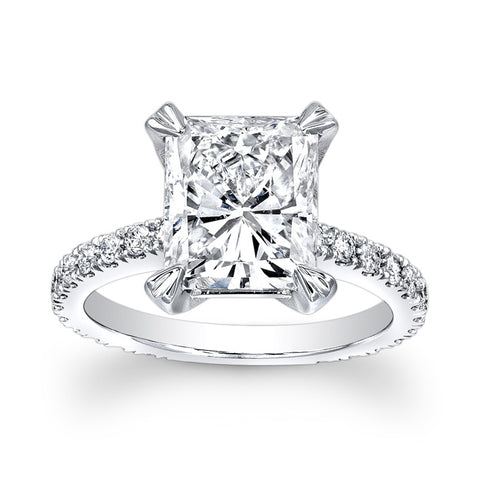 2.50 Ct. Radiant Cut Diamond Engagement Ring with Accents H Color VS1 GIA Certified