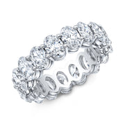 3.00 Ct. Oval Cut Diamond Eternity Ring Wedding Band G Color VS2-SI1 Clarity