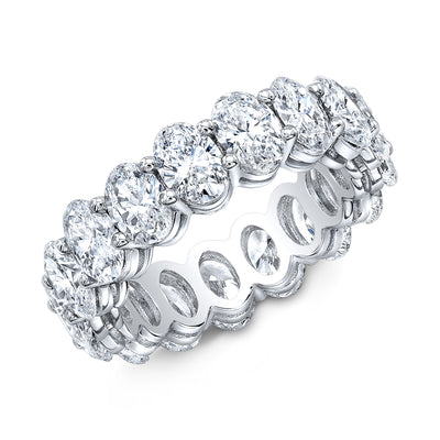 4.00 Ct. Oval Cut Diamond Eternity Ring Wedding Band G Color SI1 Clarity