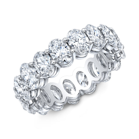 6.00 Ct. Oval Cut Diamond Eternity Ring Wedding Band G Color SI1 Clarity