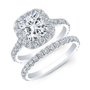 2.40 Ct. Jovani Cushion Cut Halo Diamond Engagement Ring H Color VVS2 GIA Certified