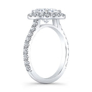 2.40 Ct. Clasico Halo Cushion Cut Diamond Engagement Ring F Color VS1 GIA Certified