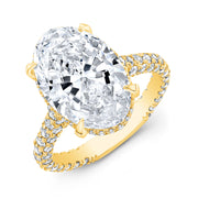 5.20 Ct. Delano Under Halo Oval Cut Diamond Engagement Ring I Color SI1 GIA Certified