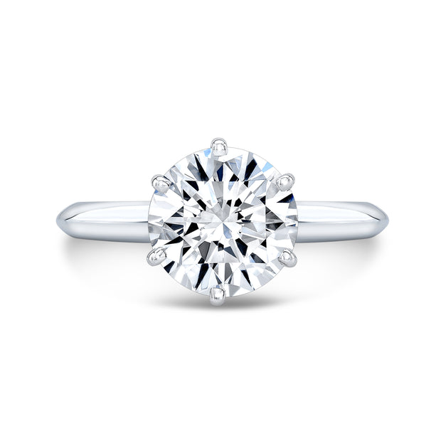 2.50 Ct. Round Cut Diamond Solitaire Ring w Matching Eternity Band G,SI1 GIA Certified