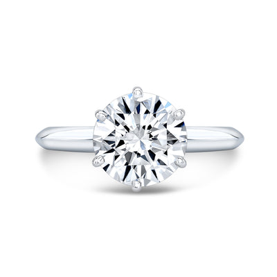 1.70 Ct. Round Cut Diamond Knife Edge Solitaire Ring G Color VS2 GIA Certified Triple Excellent