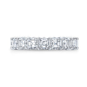 4.0 Ct. Asscher Cut Diamond Eternity Ring F-G Color VS1 Clarity