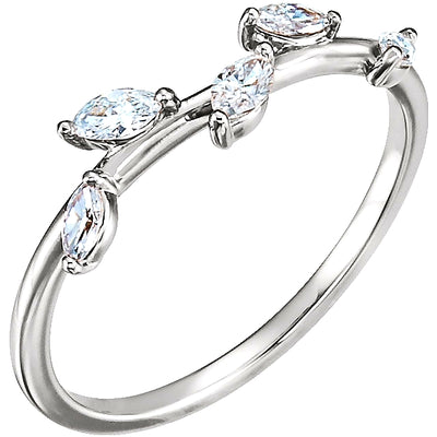 Off-the-Vine Pear Diamond Ring Stackable