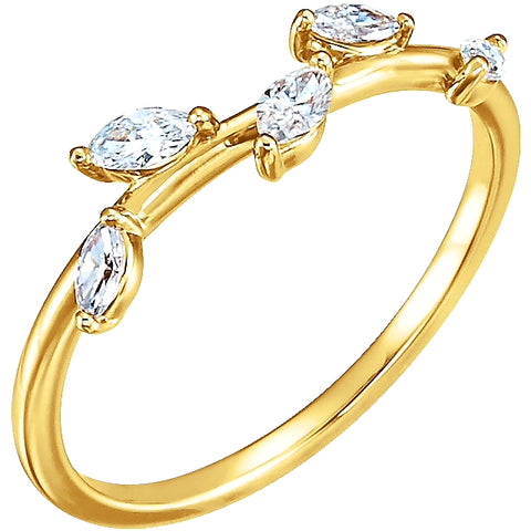 Off-the-Vine Pear Diamond Ring