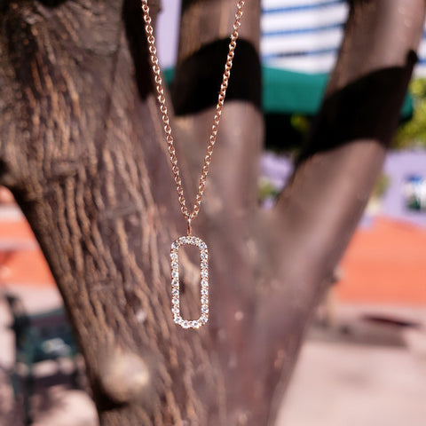 open bar diamond necklace