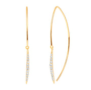 LEDODI Paris Diamond Hoop Earrings