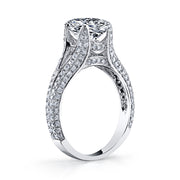 2.00 Ct. Oval Cut Diamond Split Shank Engagement Ring H Color VS2 GIA Certified