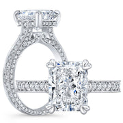 3.30 Ct. Bellagio Radiant Cut Diamond Engagement Ring H Color VS1 GIA Certified