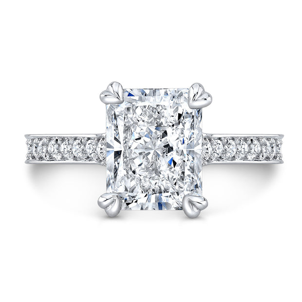 2.80 Ct. Bellagio Radiant Cut Diamond Engagement Ring H Color VS1 GIA Certified
