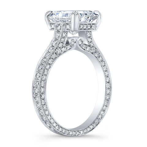 2.50 Ct. Bellagio Radiant Cut Diamond Engagement Ring H Color VS1 GIA Certified