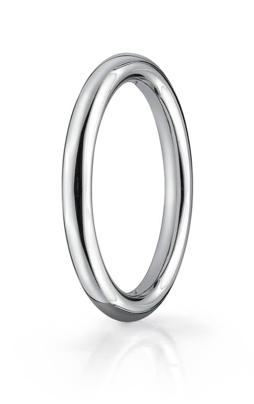 14k White Gold 2.5mm Comfort-Fit High Polished Round Carved Design Band - CF71250114kw