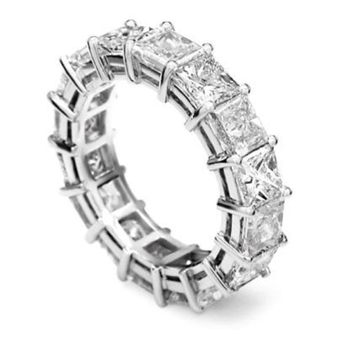 6.50 Ct. Princess Cut Diamond Eternity Ring Shared Prong